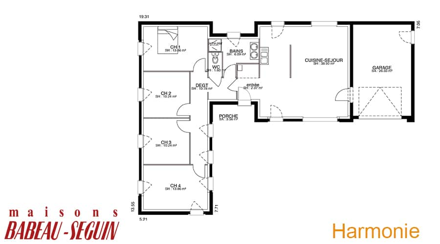 plan maison contemporaine harmonie