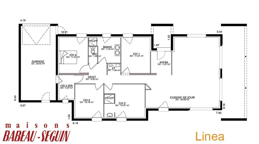 plan maison contemporaine linea