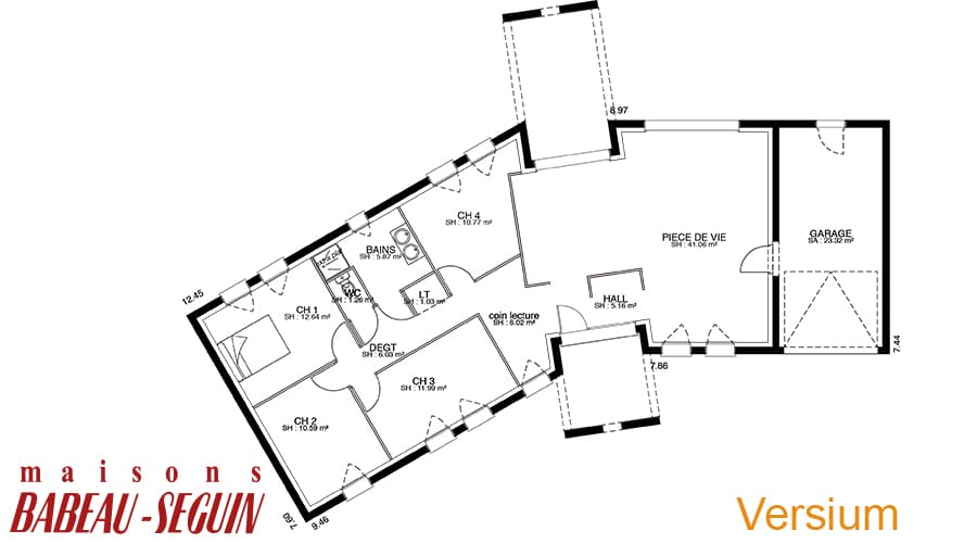 plan maison contemporaine versium