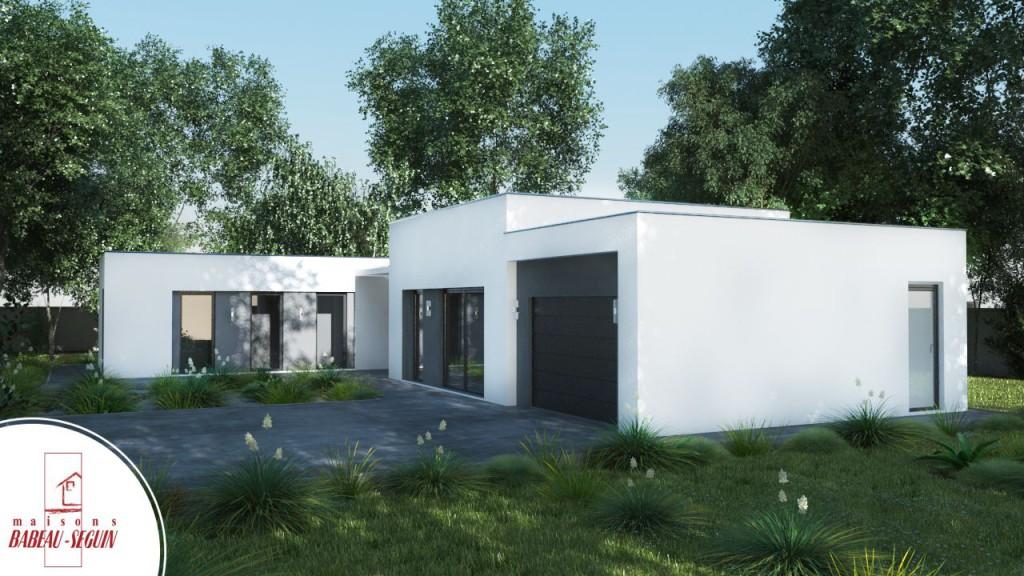 exterieur 3D maison contemporaine
