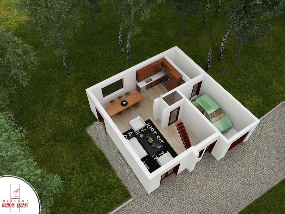 Chaceniere 1plan maison 3D interieur