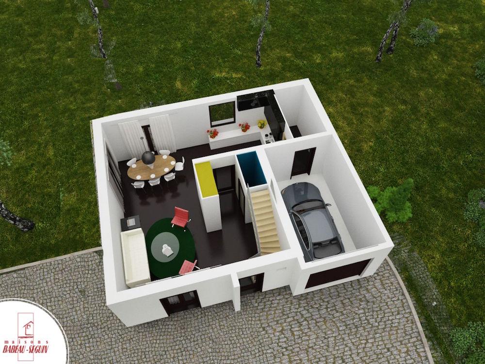 Colombière 1plan maison 3D interieur