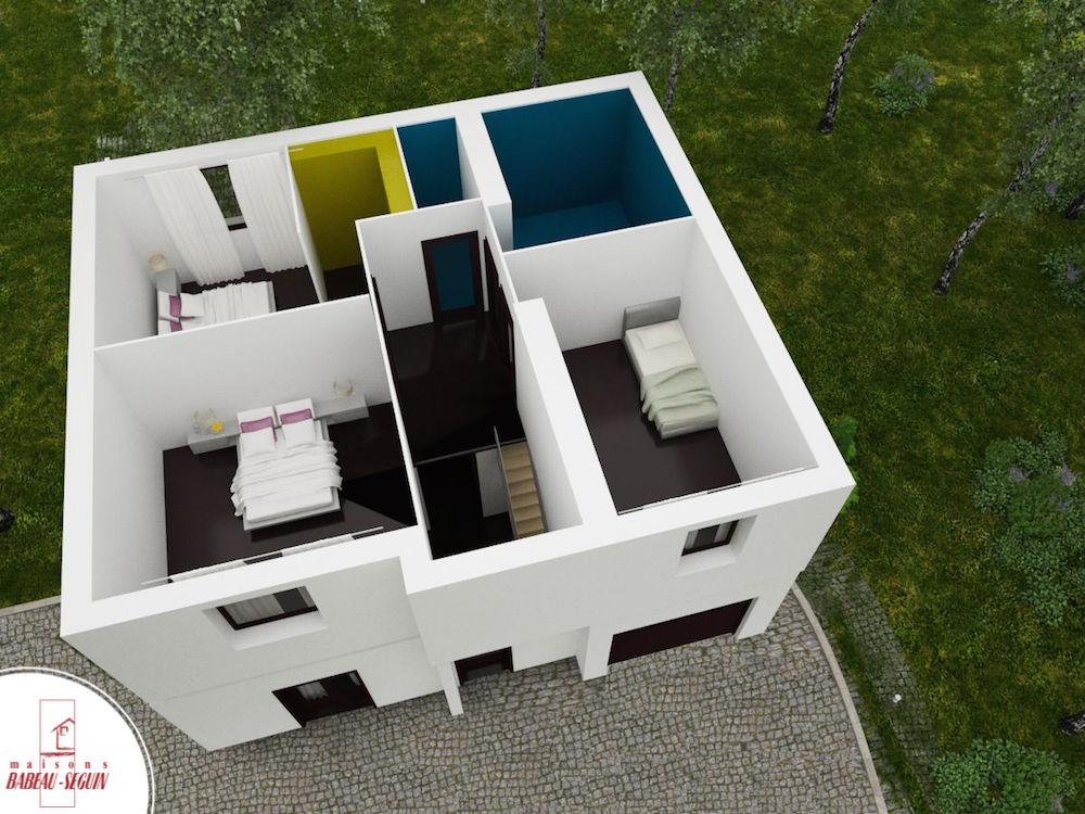 Colombière plan maison 3D interieur