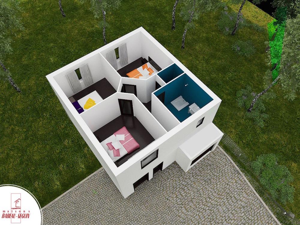 Extenso 93.2 p pplan maison 3D interieur