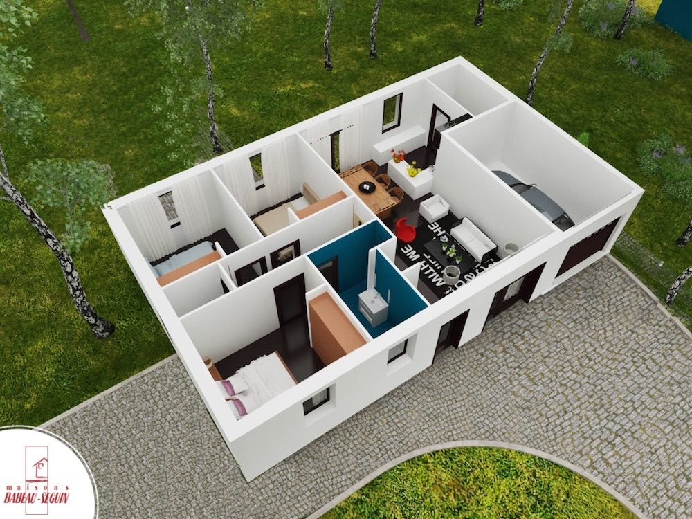 Focus 80 plan maison 3D interieur