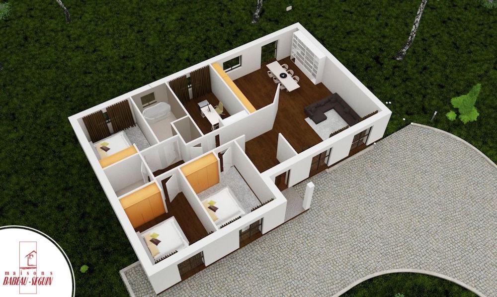 Meziereplan maison 3D interieur