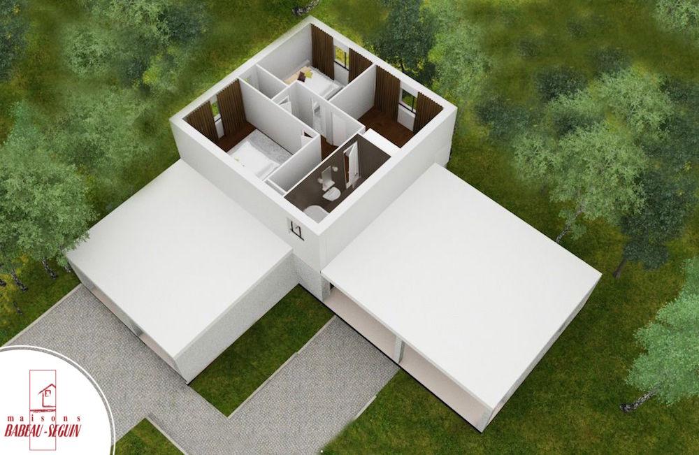 Provenciere haut plan maison 3D interieur