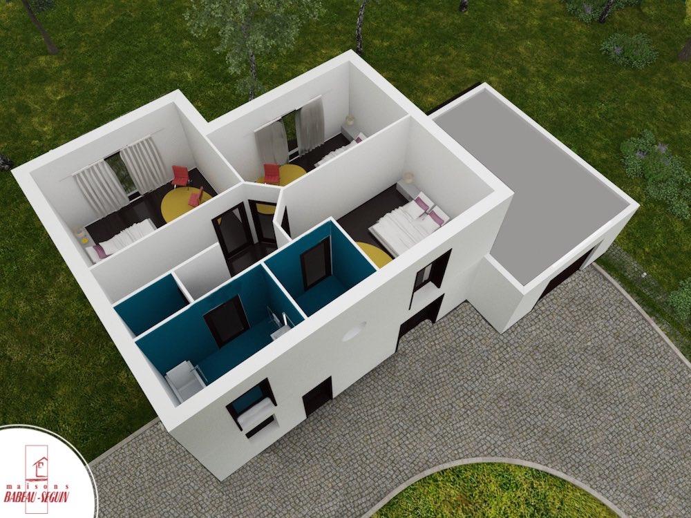 Saturne haut .1plan maison 3D interieur