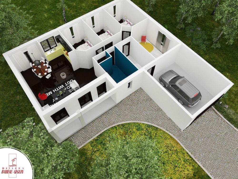 Sauvetièreplan maison 3D interieur