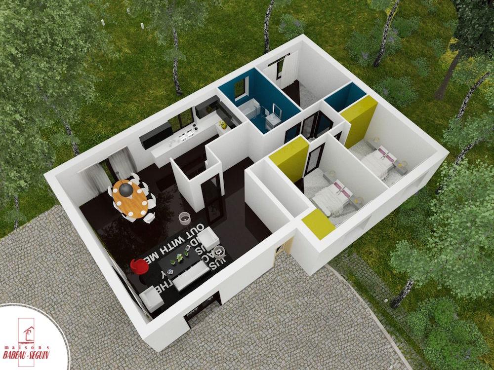 Sellière plan maison 3D interieur