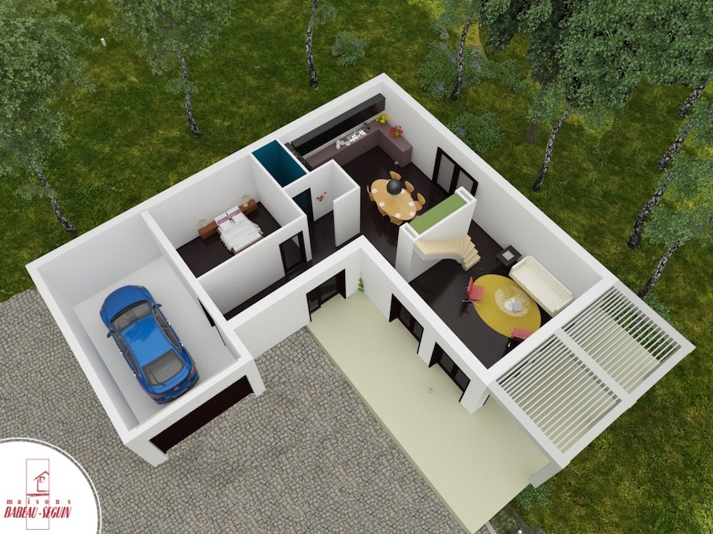Maison 3d en ligne great des logiciels d de plans de for Chambre 3d en ligne