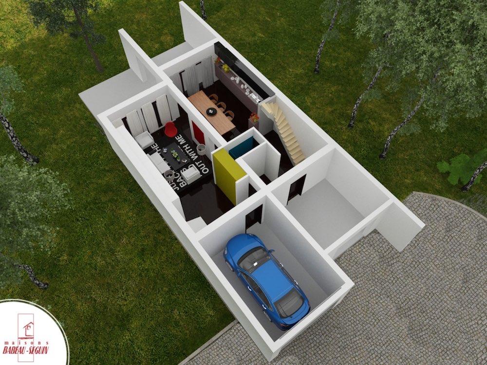 Symphonie plan maison 3D interieur