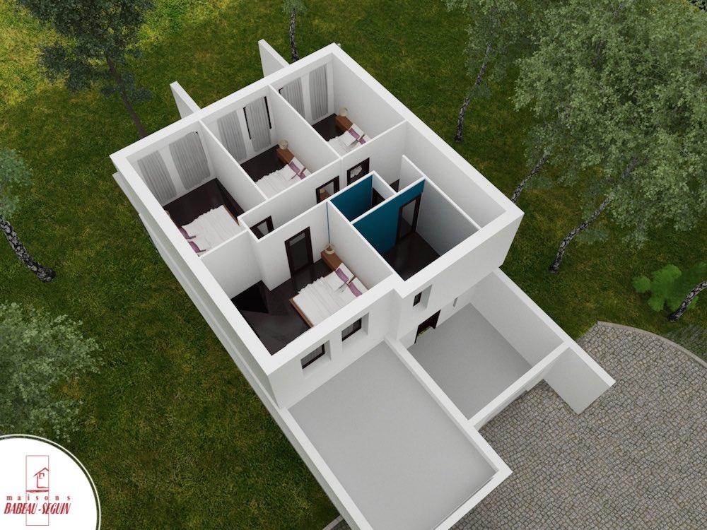Symphonie.1plan maison 3D interieur
