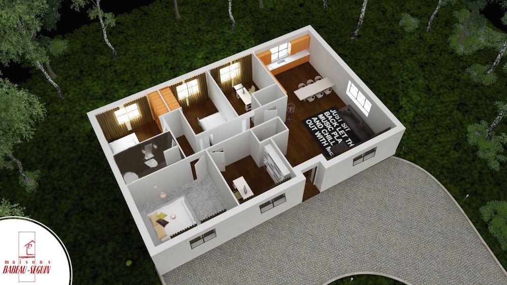 Aubetiere -maison moderne plain pied pas cher