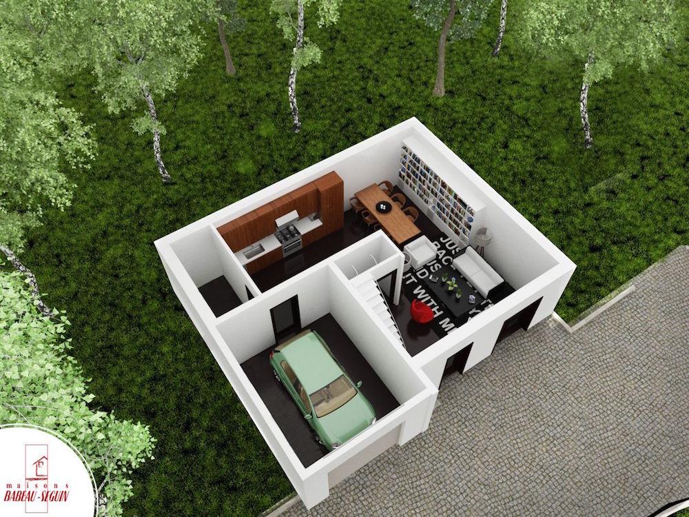 boissiere bas plan maison 3D interieur