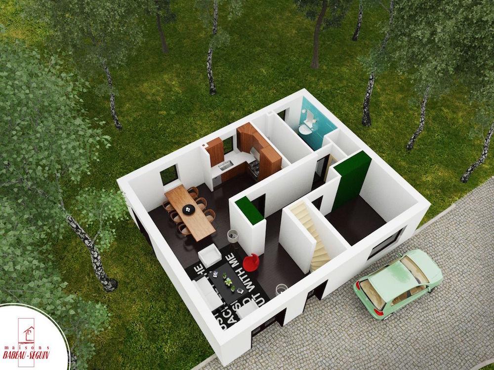 briereplan maison 3D interieur
