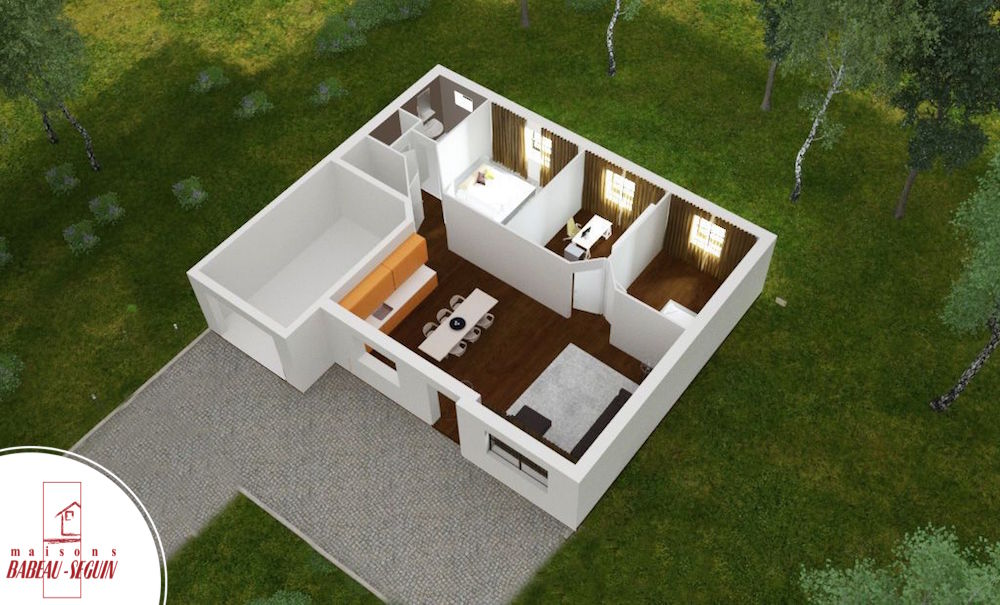 Focus la maison low cost par babeau seguin for Plan maison interieur 3d