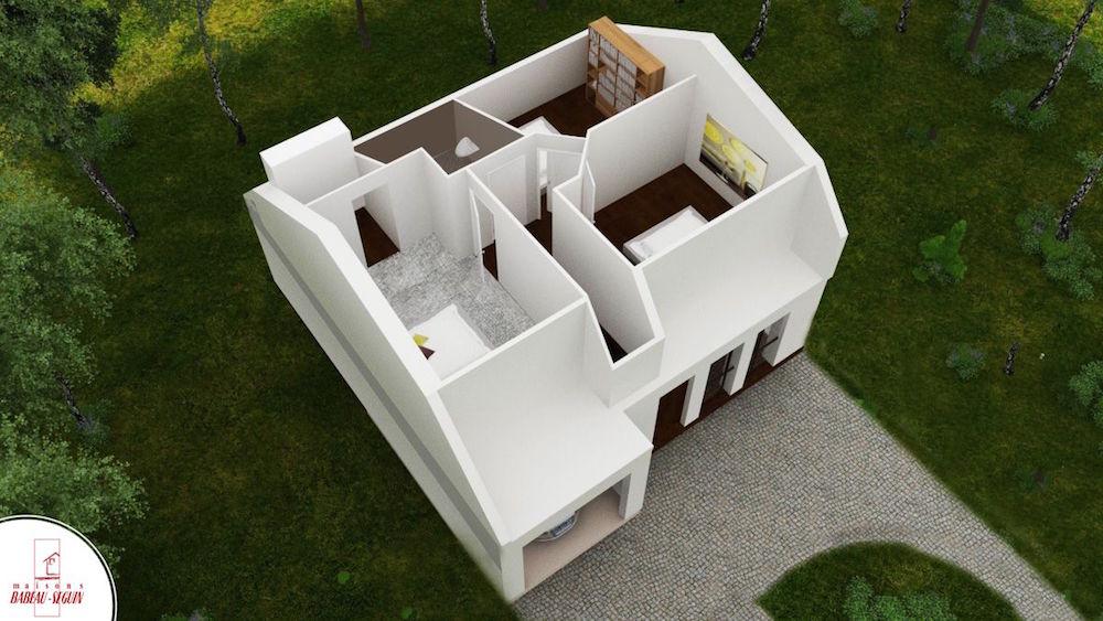 focus 85 haut 2plan maison 3D interieur