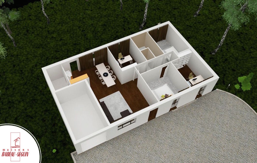focus 91plan maison 3D interieur