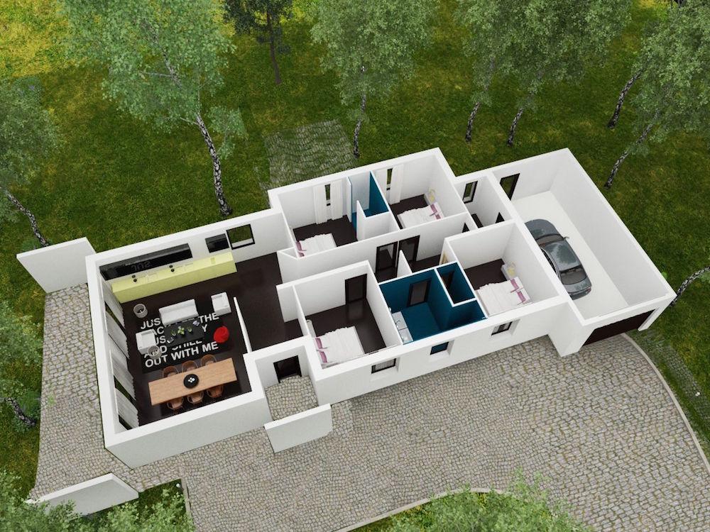 Linea maison moderne plain pied - Style de maison moderne plain pied ...