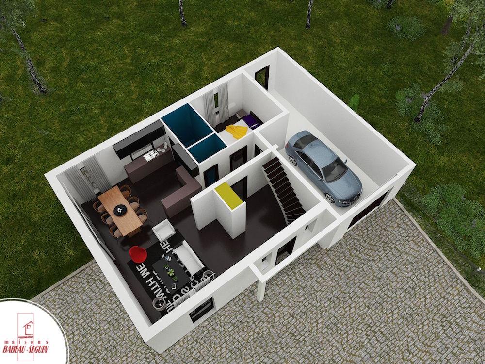 liverdiere  bas125 2 ppplan maison 3D interieur