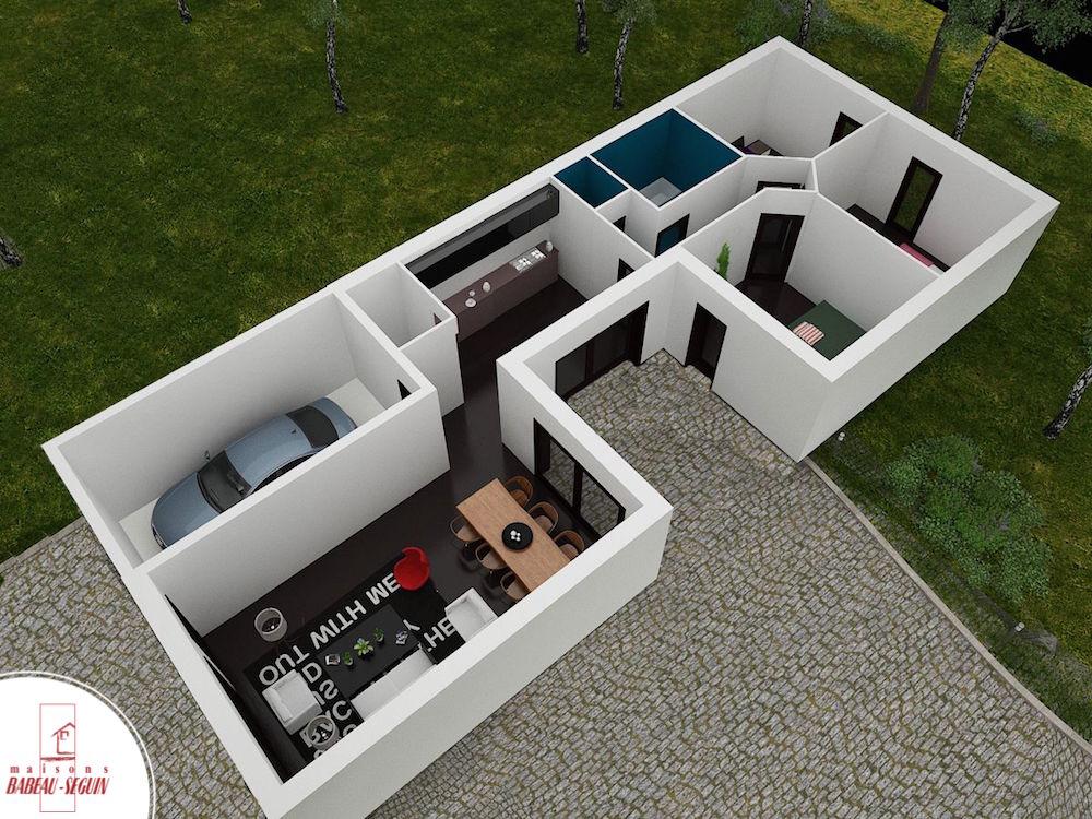 Fabulous Plan Maison En Forme De U. Plan De Maison Plain Pied En Forme U  SZ27