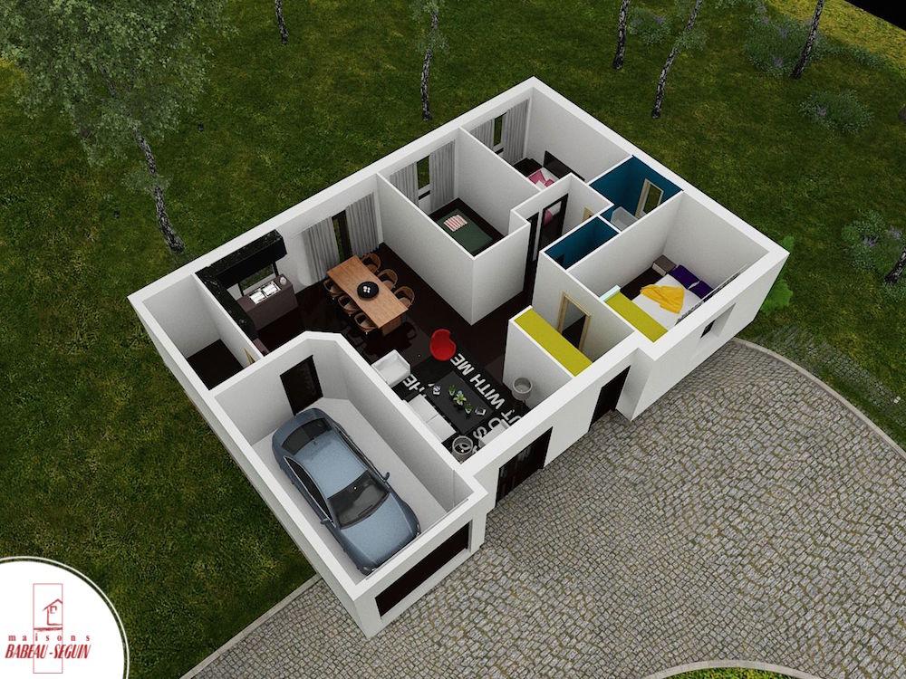 pruničre 87 ppplan maison 3D interieur