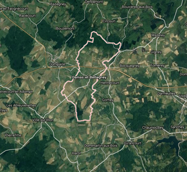 Terrain De 1755 M 178 224 Damas Et Bettegney 88