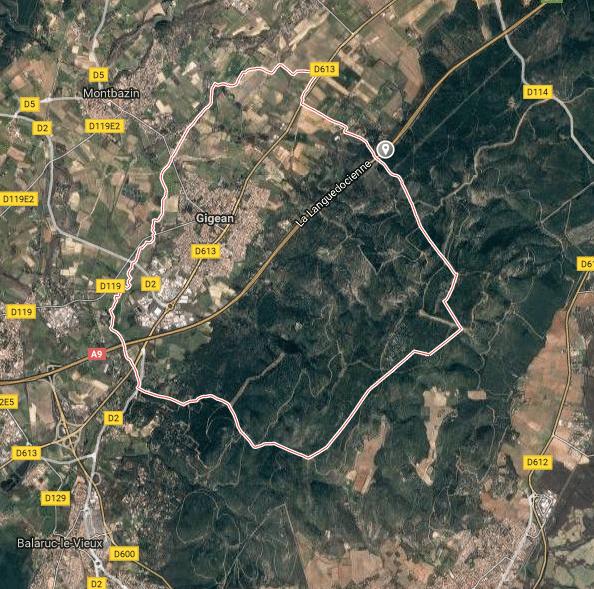 Terrain de 340 m gigean 34 for Code postal gigean