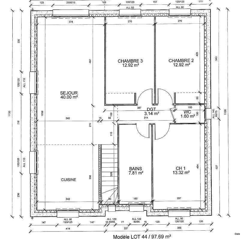 saulny plan etage
