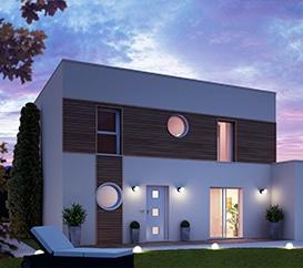 Plan de maison contemporaine