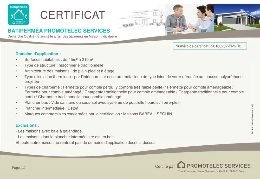 Certificat Batipermea