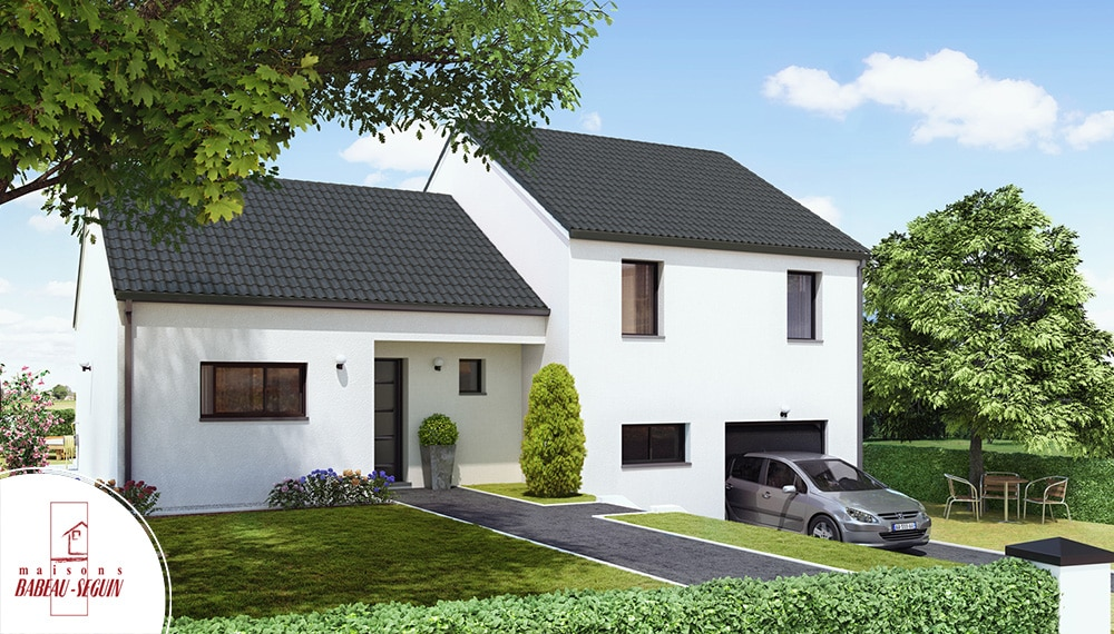 Neuvili re maison moderne demi niveau - Exemple agrandissement maison ...